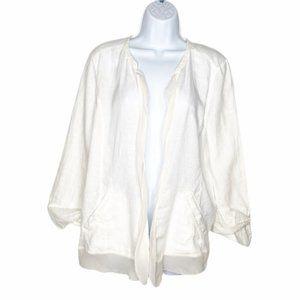 Eileen Fisher linen silk lightweight cardigan